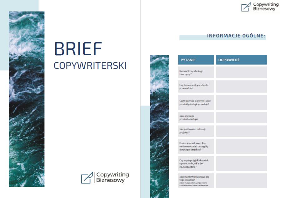 Brief do współpracy z copywriterem