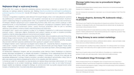 UX copywriting - nagłówki i bloki tekstu, porównanie