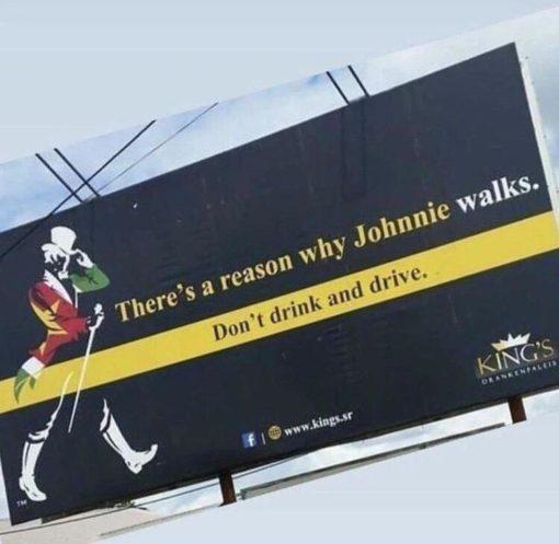 Istnieje powód, dla którego Johnnie chodzi. Piłeś, nie jedź. Kampania hurtowni alkoholi z wykorzystaniem motywu z whisky Johny Walker