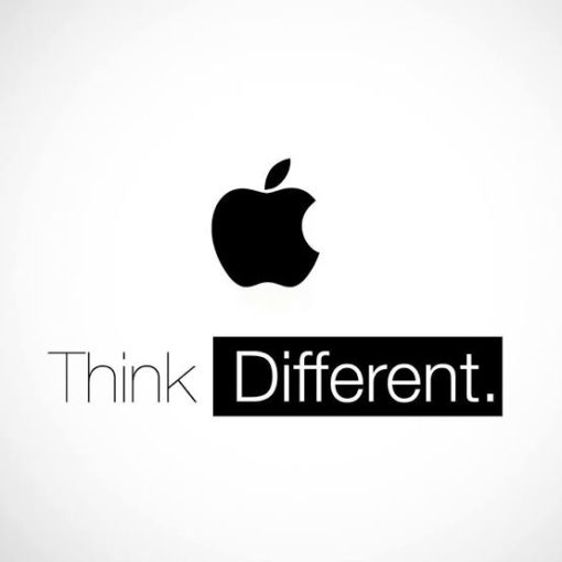 slogan reklamowy apple