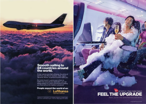 Porównanie reklam Lufthansa i Virgin Strategia marki