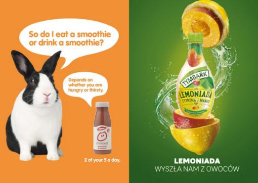 Porównanie reklam Innocent i Tymbark, strategia marki